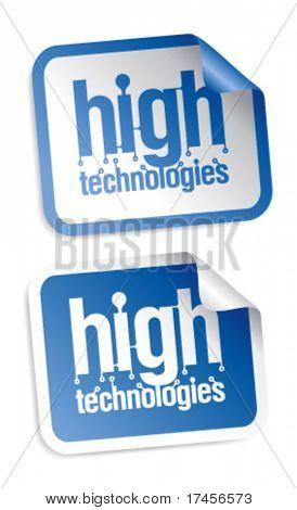 High technologies stickers set