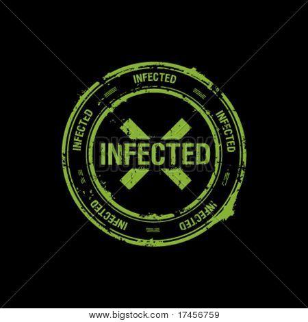 vector stamp, infected, danger