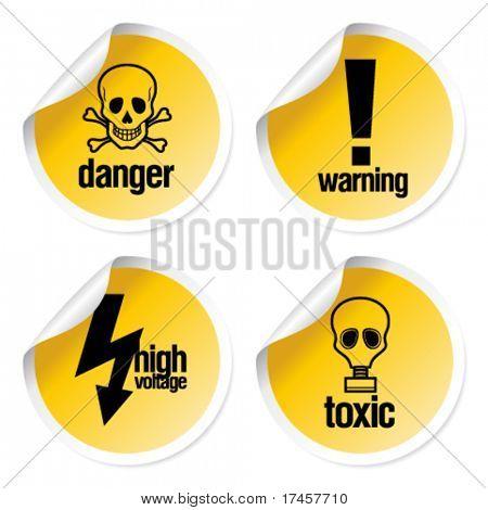 Toxic vector stickers set