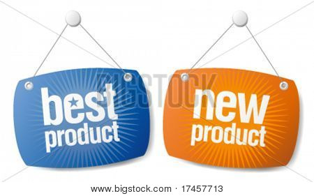 New Best Product Signs Set