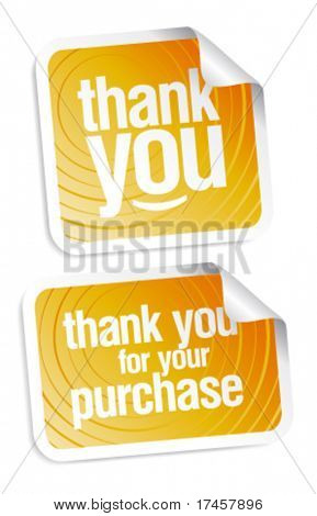 Thank you grateful stickers