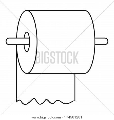 Toilet paper roll outline Icons  Free Download