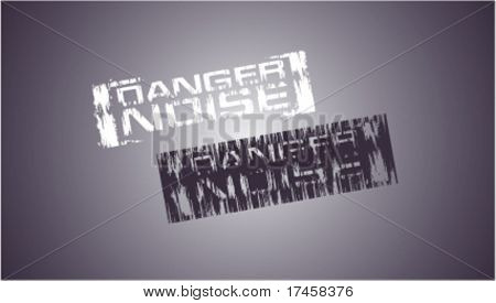 Danger noise vector stamps