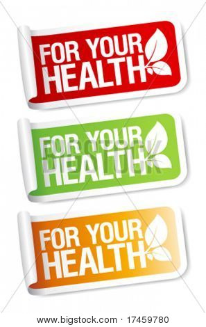 For your health, vital stickers set.