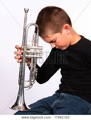 Youth with a trumpet