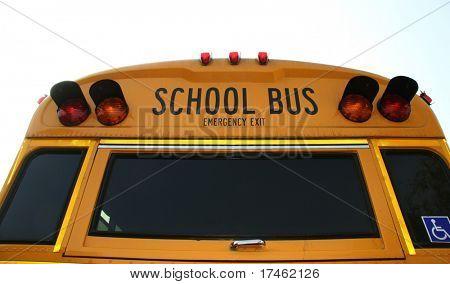 Rear end of school bus