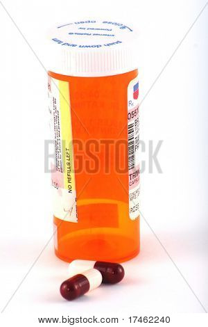 Prescription bottle with antibiotics