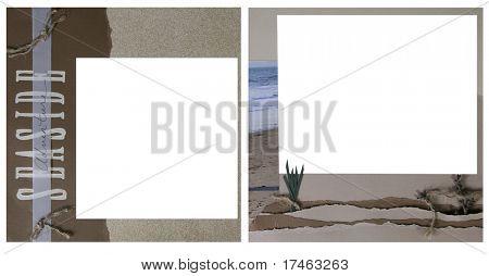 Ocean Square Frame Scrapbook Template-Insert your Photos!