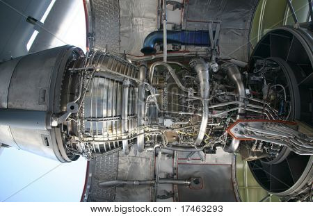 Inside of C-17 Military Aircraft Engine