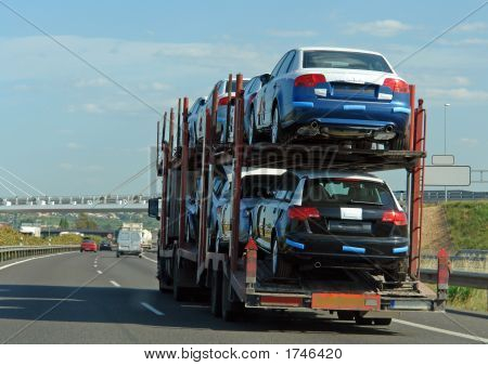Trailer With New Cars