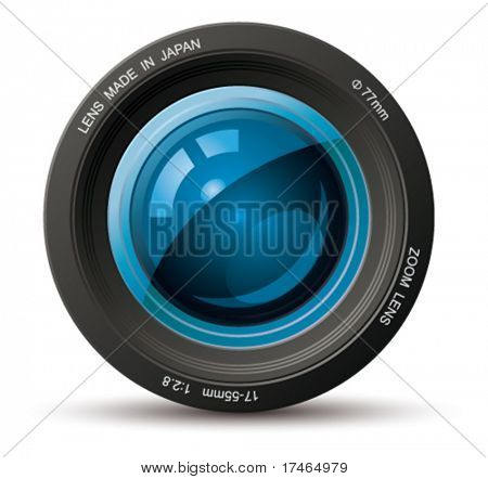 Lente foto profesional. Vector