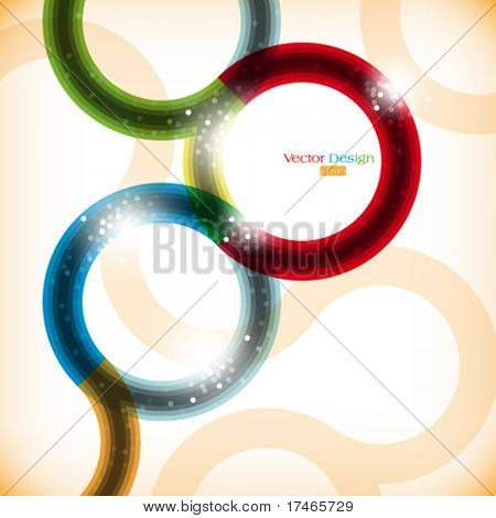 eps10 vector multicolor curved lines background design