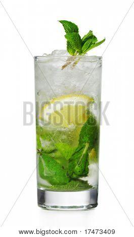 Cocktail - Mojito with Lemon Slice and Sugar