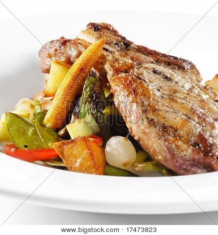 Brisket of Pork with Vegetables