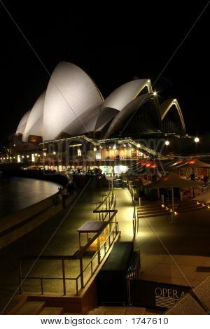 Sydney Opera House At Night..