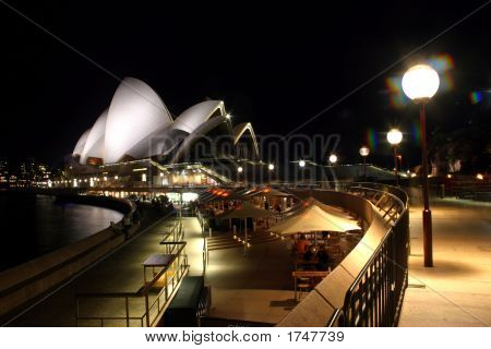 Sydney Opera House At Night..