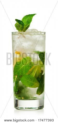 Cocktail - Mojito with Lemon Slice and Sugar