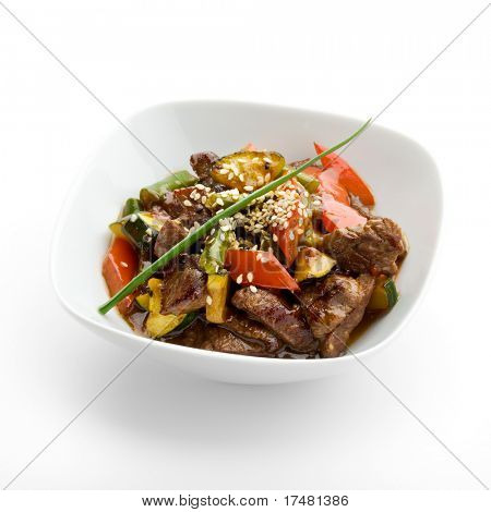 Veal with Vegetables and Piquant Sauce