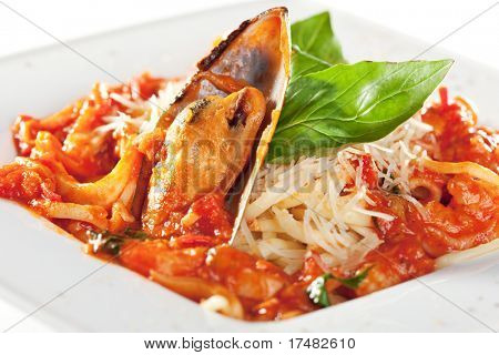 Pasta - Linguine with Seafood Plate