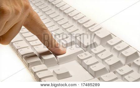 Pressing enter button