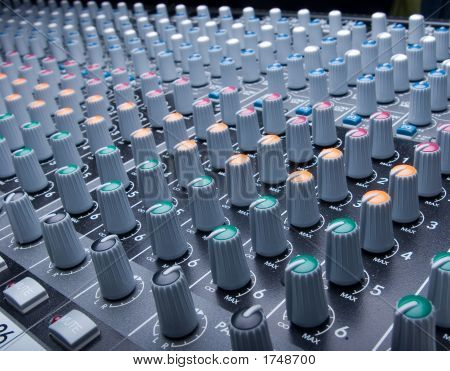 Audio Mixing Board Knobs