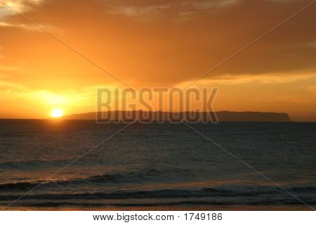 Sunset Over Ni'Ihau