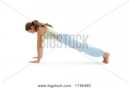 Chaturanga Dandasana Four-Limbed Staff Pose