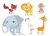 stock photo of jungle animal  - animal set vector - JPG