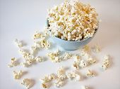 picture of matinee  - popcorn in blue bowl - JPG