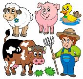 stock photo of farm animals  - Farm cartoons collection  - JPG