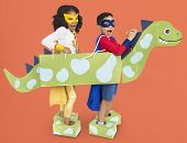 Little Kids Superheroes kids Dinosaur Costume poster