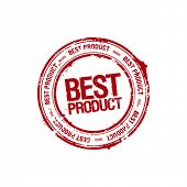 foto of old post office  - vector best product leader stamp - JPG