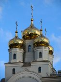 stock photo of ekaterinburg  - domes of cathedral in the names of all saints - JPG