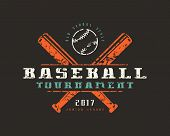 Emblem Of Baseball Tournament. Graphic Design For T-shirt poster