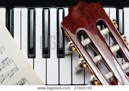 Element Of The Guitar On The Piano