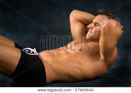Man Exercising Situps