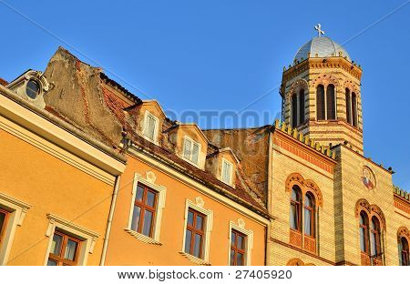 Byzantine Medieval Center With Style Church In Brasov City, Romania
