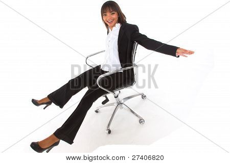 Businesswoman On A Chair