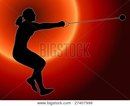 Sunset Back Ladies Hammer Thrower