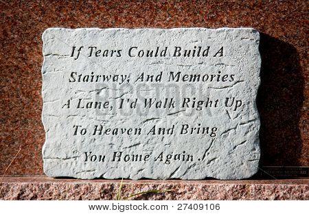 Lápida de lágrimas