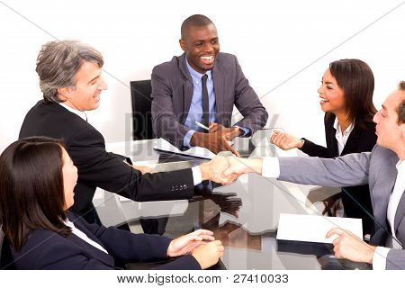 Multi Ethnic Team During A Meeting
