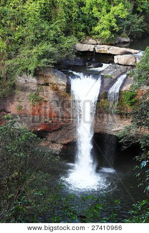 Haew Suwat Waterfall In Kao Yai National Park Thailand