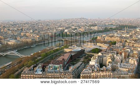 Paris seen from the Eiffel Tower