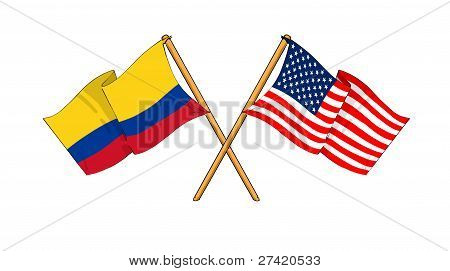 America And Colombia Alliance And Friendship