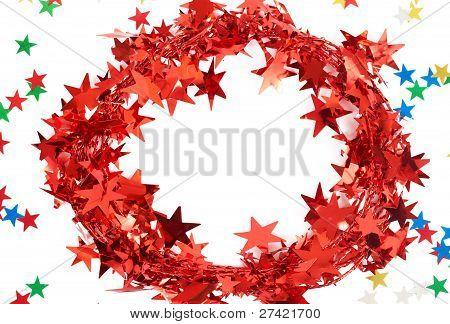 Red Christmas Tinsel Frame