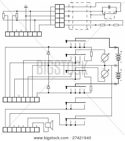 electrical circuit vector