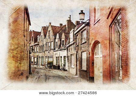 Streets Of Brugge, Belgium