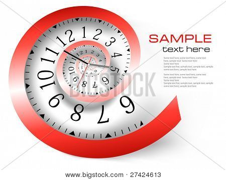 Infinity time background. Vector illustration