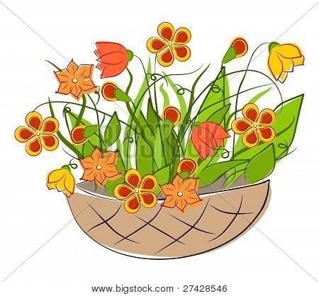 Flowers - spring basket arrangements