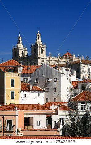 Portugal, Lisbon, The restored historical Alfama quarter